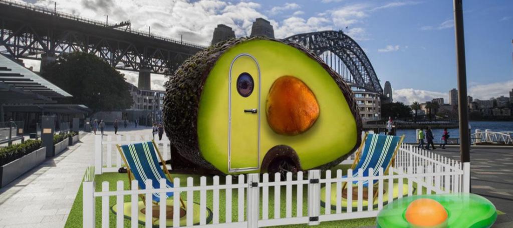 Домик авокадо открылся на набережной Сиднея: необычная идея для тех, кому надоели пляжные бунгало и лесные хижины