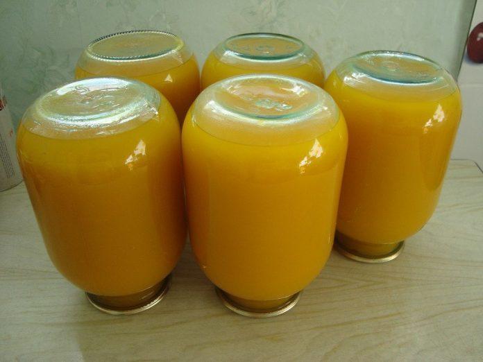 Тыквенный сок с апельсинами и лимонами на зиму. Вкусно и полезно!