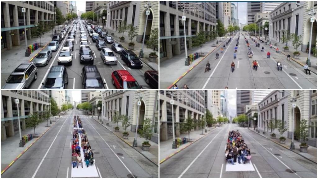 Пересаживаемся на метро и маршрутки: фотограф показал, как решить проблему загруженности улиц с помощью общественного транспорта