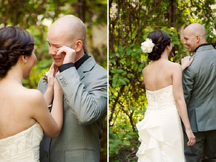Слезы радости: мужчины-женихи тоже могут плакать на собственной свадьбе