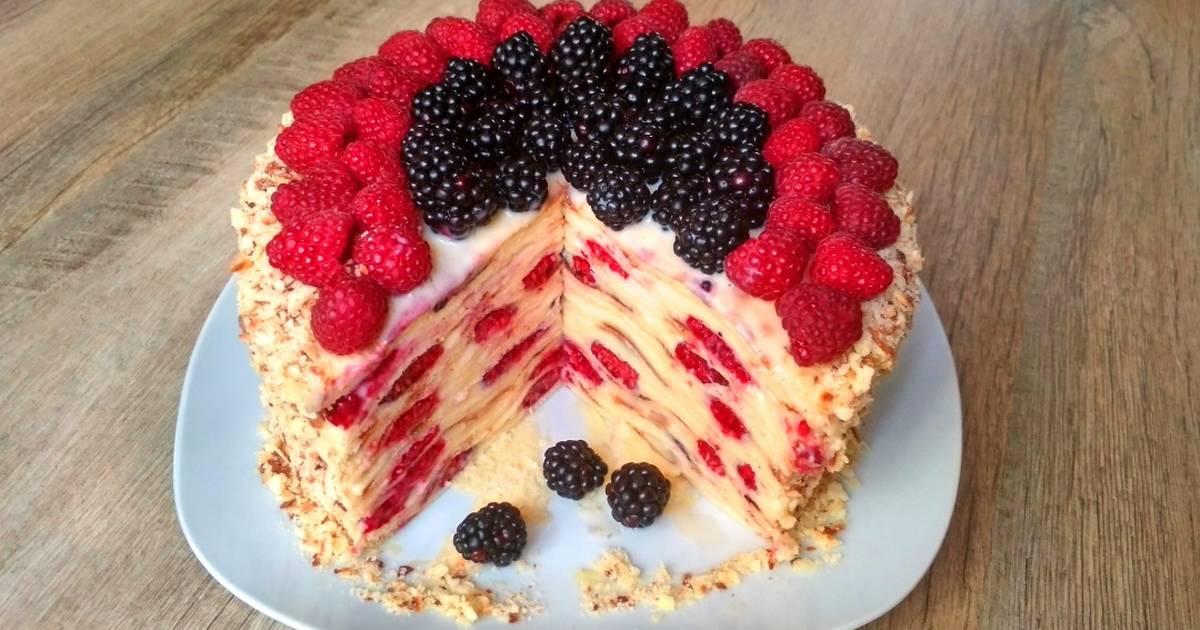 Как быстро приготовить витаминный Торт «лесная ягодка» на сковороде