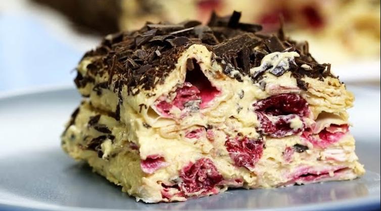 Торт без выпечки «Вишневое Блаженство». 15 минут и готово!