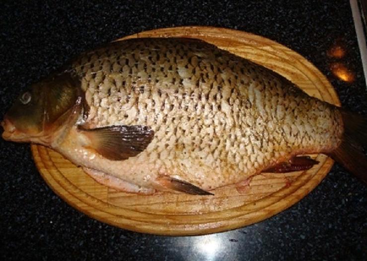 Рыбу я готовлю часто, особенно карпа: очень вкусный и полезный запеченный в духовке ужин. Мои детки едят блюдо с удовольствием