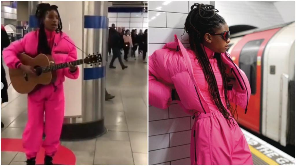 Дочь Уилла Смита позирует в лондонском метро для коллекции осень/зима 2019 «Прада»