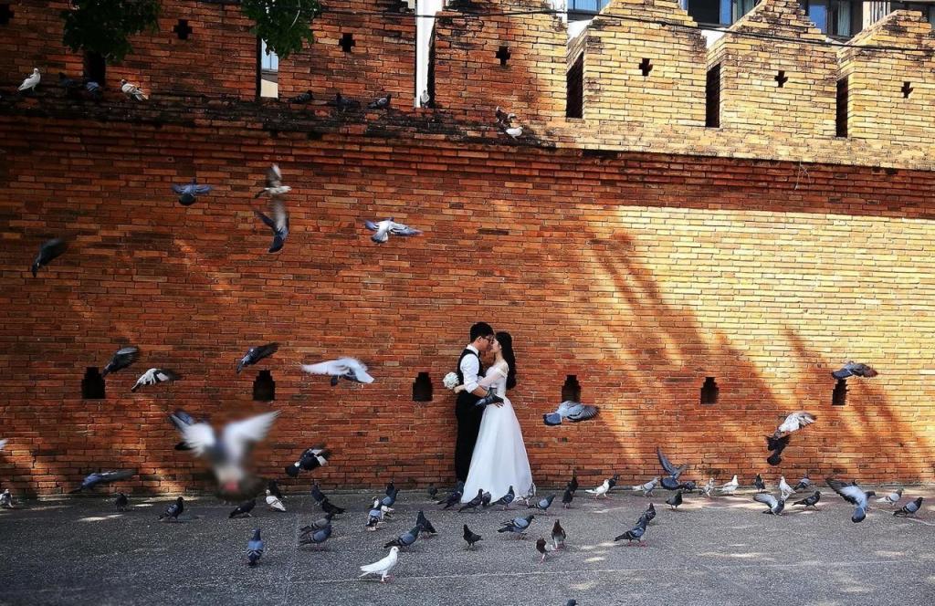 В Таиланде туристы пользуются услугами людей, пугающих голубей, чтобы получить идеальный снимок для Instagram