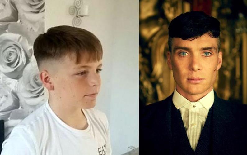 12 летний школьник все лето готовился подстричься, как герой популярного фильма. Когда он пришел в школу с новой прической, его выгнали