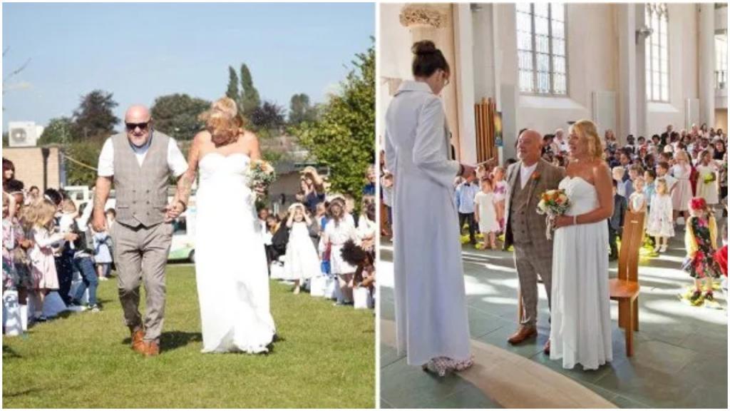 Школьный сторож вышла замуж: в торжестве приняли участие более 450 учащихся