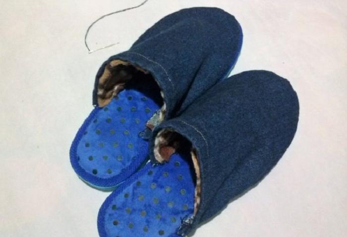 Из старых джинсов я смастерила теплые сапожки на флисе: пошаговая технология их изготовления с фото