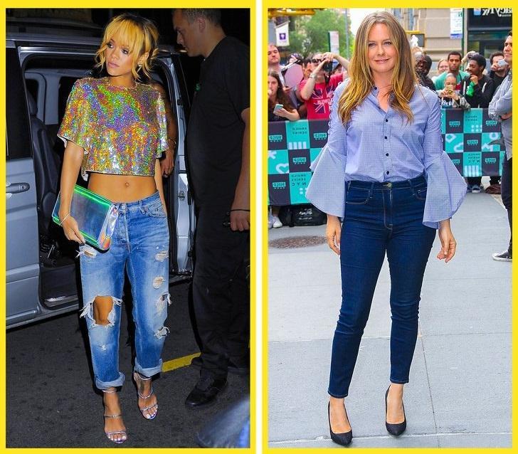 Главные секреты о джинсах, которыми поделились модные блогеры: изношенные джинсы визуально делают фигуру шире и украшают ваши ноги