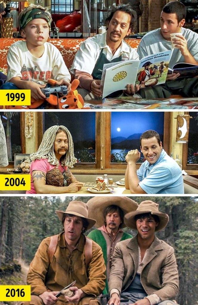 Актеры, которые не могут друг без друга на съемочной площадке: Адам Сэндлер и Роб Шнайдер уже больше 20 лет идут рука об руку