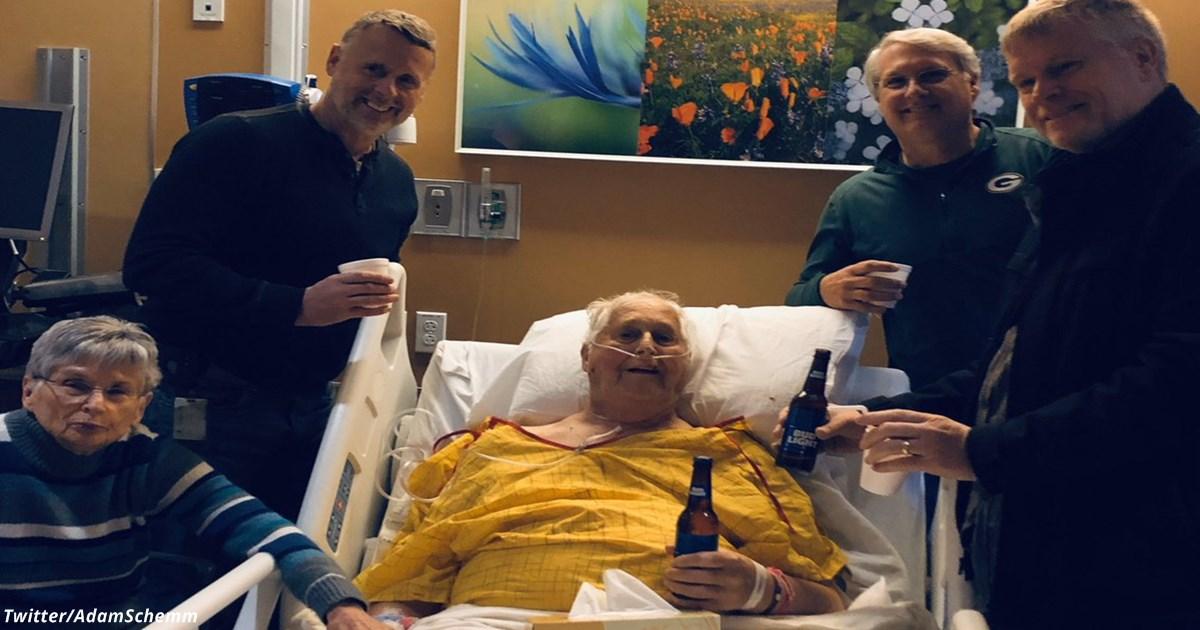 Его последним желанием было выпить пива со своими детьми