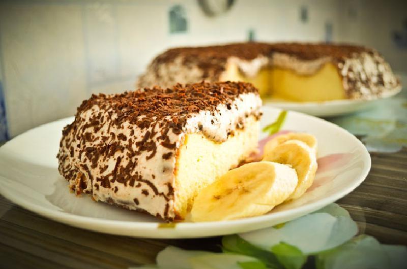 Творожно-банановый пудинг: готовим нежный и воздушный десерт, который намного вкуснее тортиков