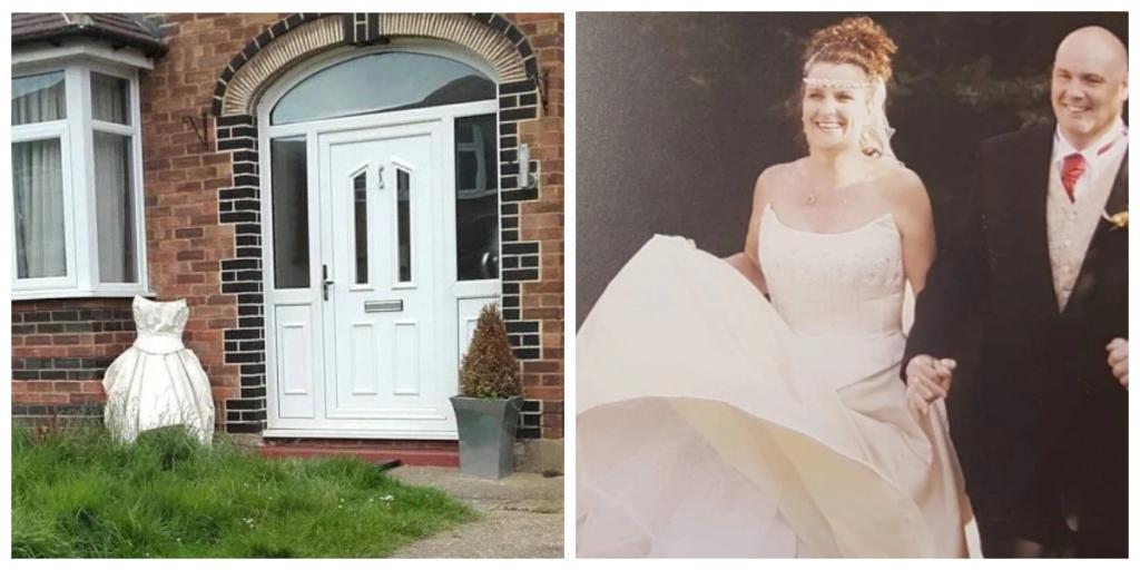 Утонченная месть: женщина принесла свое свадебное платье под дверь соперницы и оставила с запиской оригинального содержания
