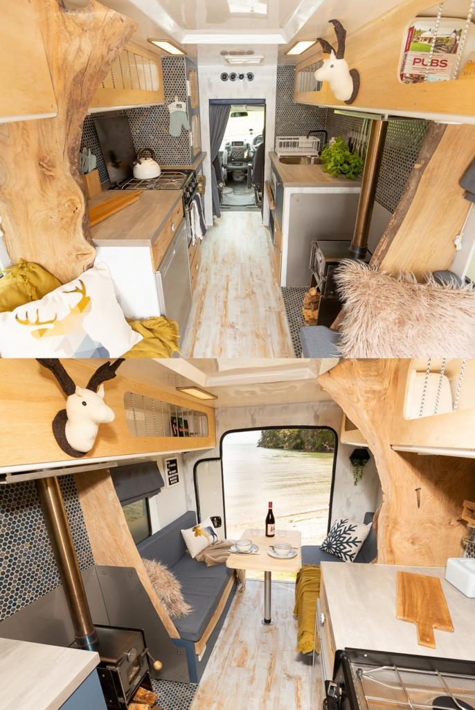 Зачем добру пропадать. Супружеская пара построила элитный дом на колесах в старом фургоне скорой помощи
