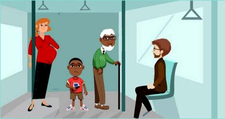 Необычный, но точный тест: кому вы уступите место в общественном транспорте?
