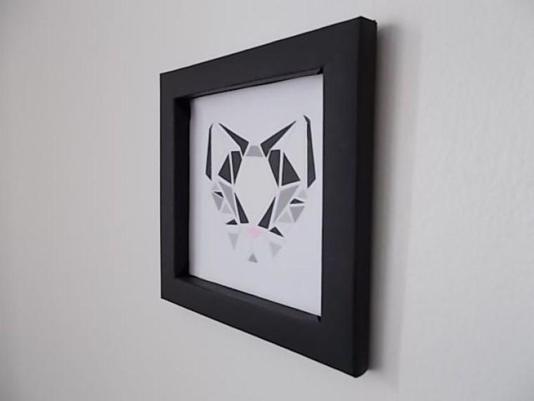 Геометрия в 2D: как сделать красивое панно из бумаги своими руками