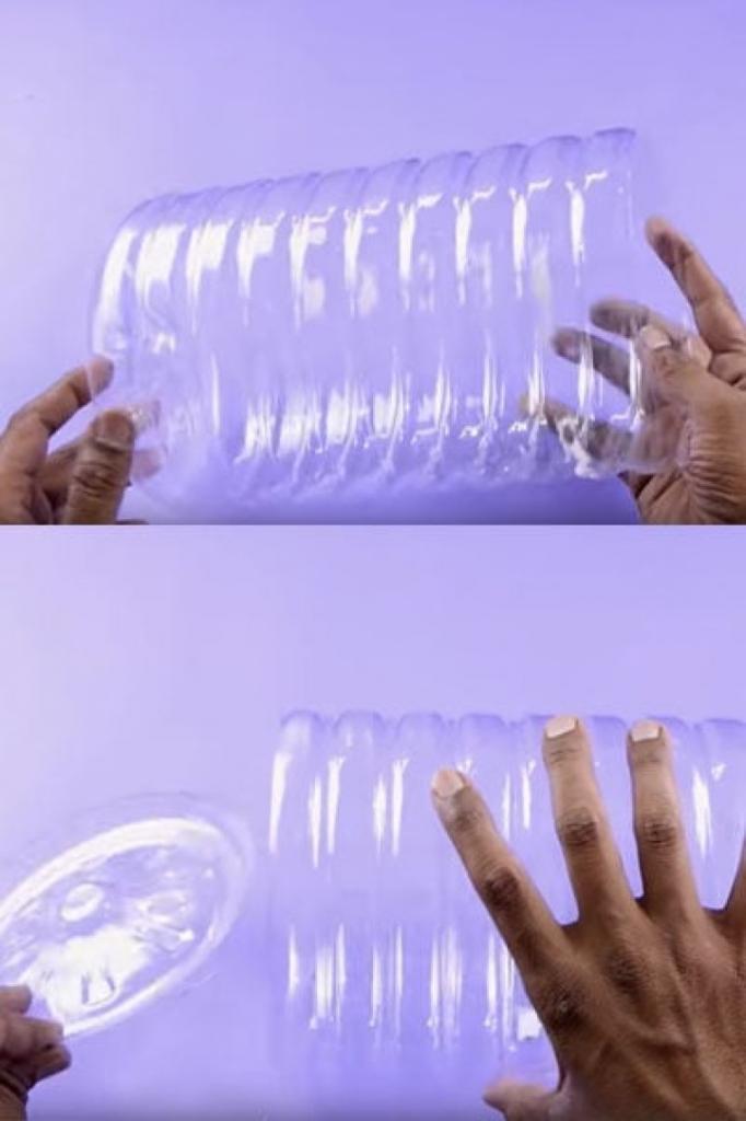 Я сделала себе ящик для бижутерии и косметики: для этого мне понадобилась лишь большая пластиковая бутылка