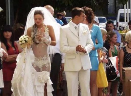 Нелепые и смешные свадебные платья