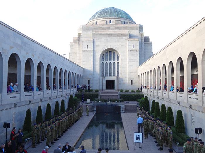 С памятника Неизвестному Солдату в Австралии начали пропадать цветы: оказалось, что это голубь решил свить себе гнездо из красных маков