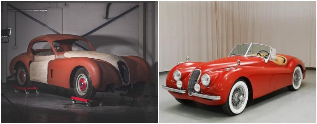 «Ягуар XK120»: британская автомобильная легенда 1954 года. Наполовину восстановленный родстер продают за £35 000