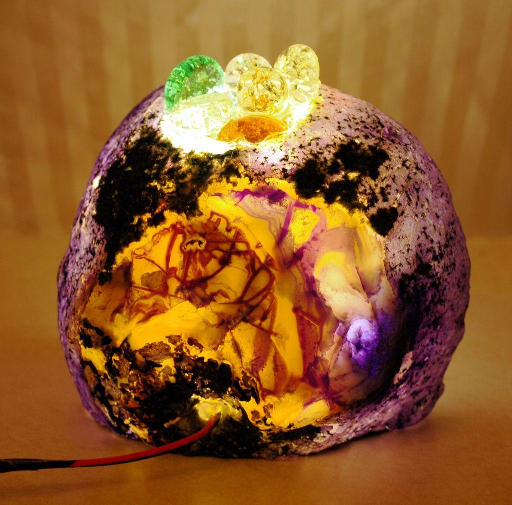 Натуральный камень в интерьере: как сделать красивый светодиодный светильник из агата