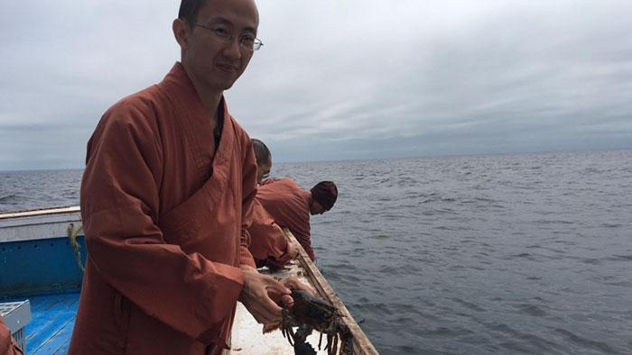Каждая жизнь важна: монахи выкупили несколько ящиков омаров у местных рыбаков и выпустили их в море