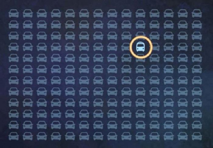 Тест на внимательность: найти автобус среди машин нужно за 10 секунд