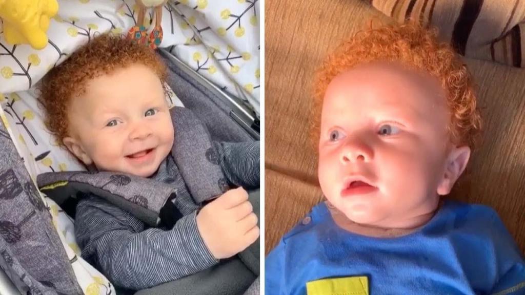 Поменяли при рождении? У темноволосых родителей родился рыжеволосый малыш