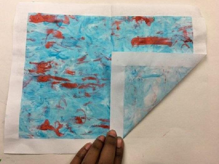 Как сделать оригинальный конверт, который нигде не купишь: понадобится бумага, краска и пена для бритья