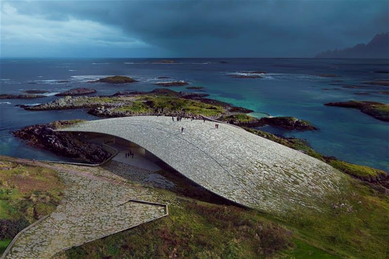 В Норвегии построят здание для комфортного наблюдения за китами, которое не нарушает природный ландшафт