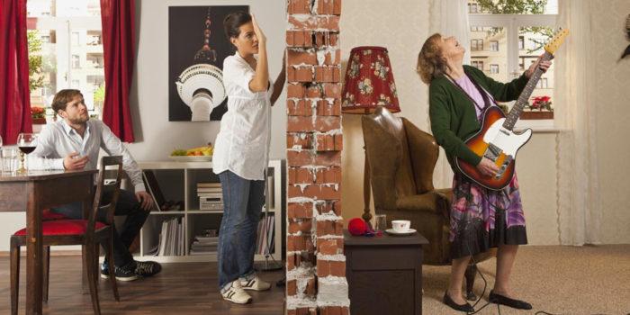 Уменьшаем слышимость в квартире, не прибегая к ремонтным работам