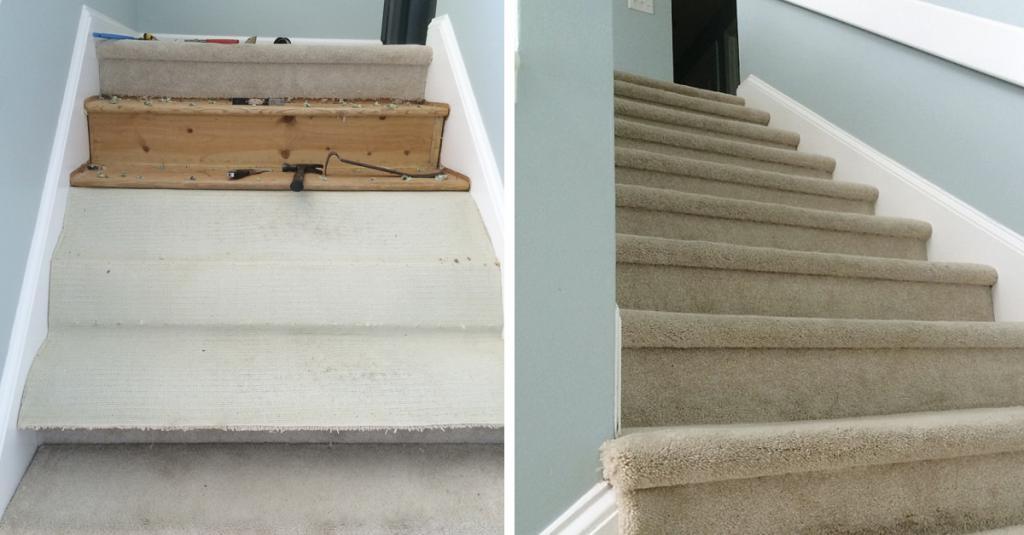 Надоела старая ковровая лестница, которая ко всему прочему еще и начала ужасно пахнуть: за два дня с мужем переделали ее