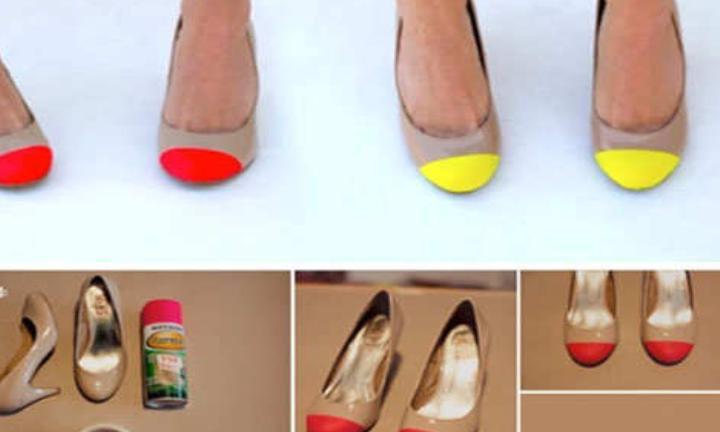 Подруга одна растит троищ дочерей, но у них у всех фирменная обувь. Оказалось, она сама превращает самые дешевые туфли в шедевры подручными материалами