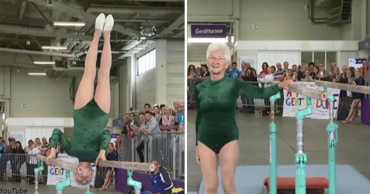 Старейшая в мире гимнастка ошеломила зрителей на фестивале в Германии