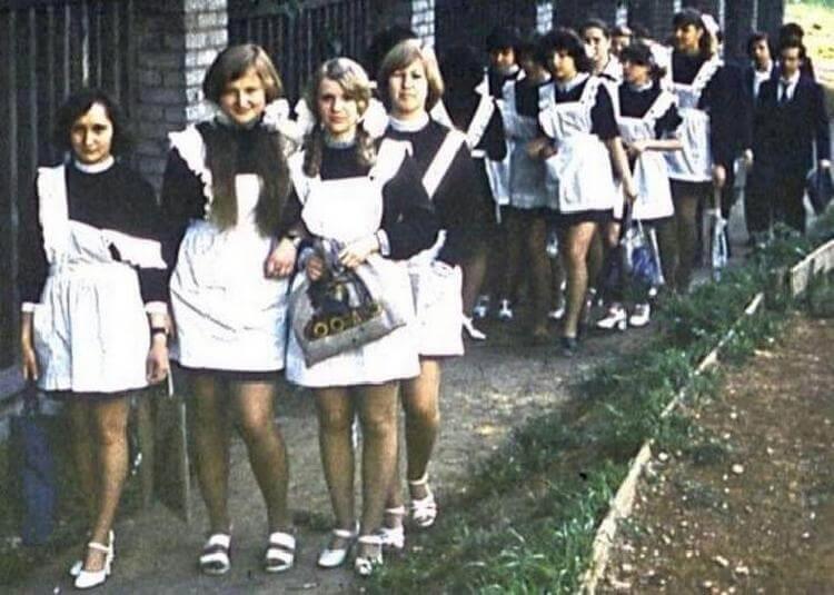 Советские школьницы. Вот, как они выглядели!