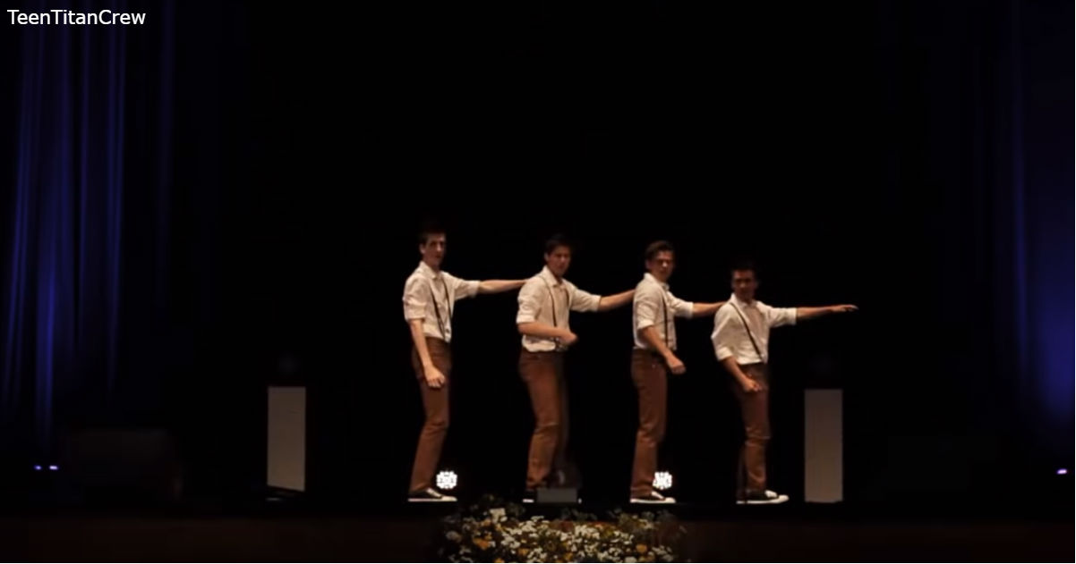 4 подростка танцуют под песню 60-х - но не так, как это делали раньше