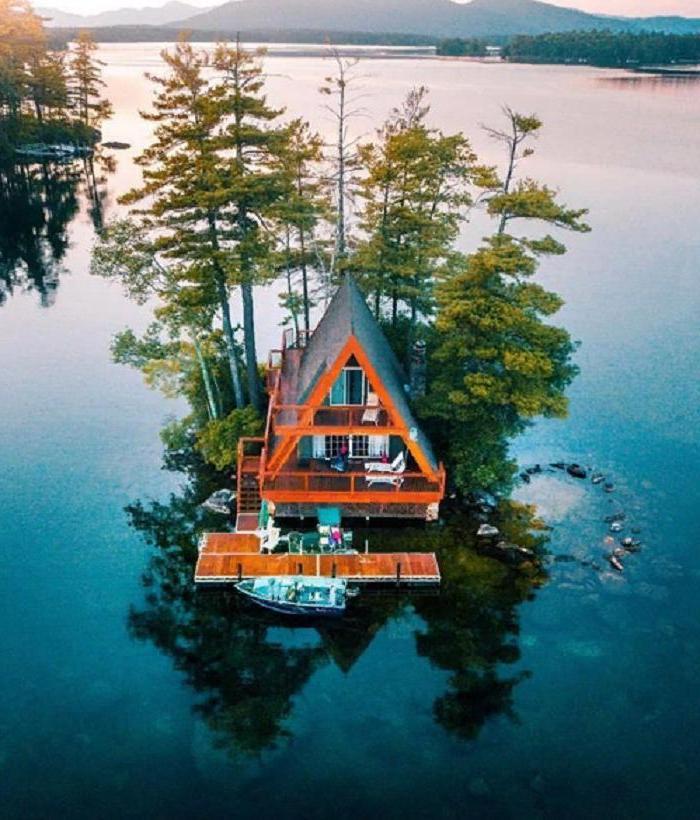 Рай интроверта: хижина посреди большой реки - отличный выбор для любителей тихого отдыха