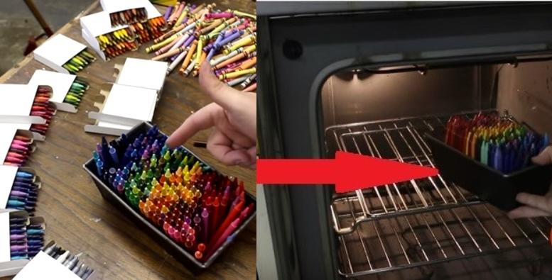 Креативный мужчина расплавил в духовке 250 восковых карандашей, чтобы сделать уникальную вазу