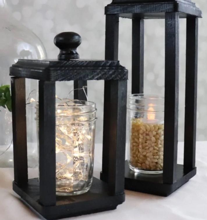 Бюджетный вариант подарка: стильный деревянный фонарь своими руками