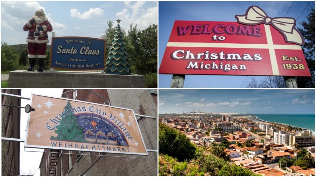 Города мира с тематическими рождественскими названиями: Санта-Клаус, например, находится в штате Индиана