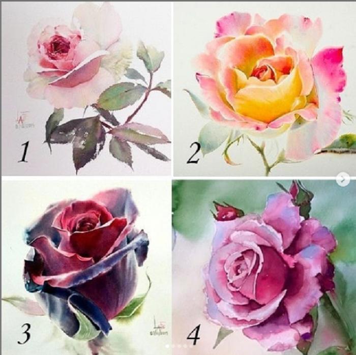 Романтик, прагматик или творческая личность   выбранная роза раскроет вашу натуру