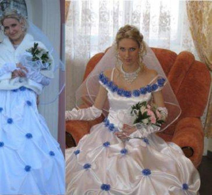 Женщины мечтали в день свадьбы выглядеть особенно, быть не такими, как все: им это удалось