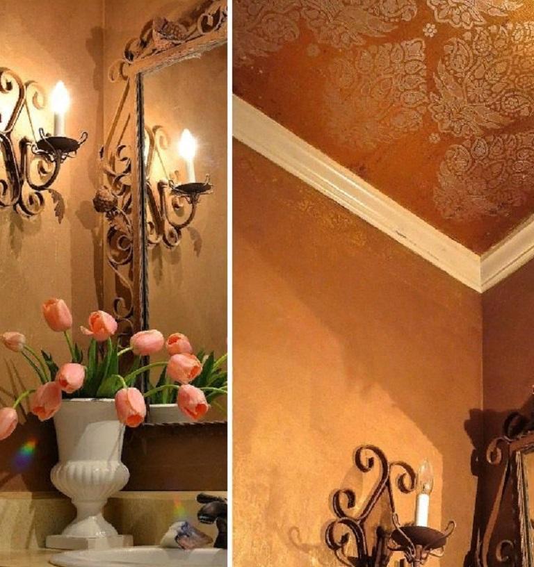 Весь интерьер в доме в восточном стиле: мужчина купил обычную светлую тумбочку и добавил свою изюминку