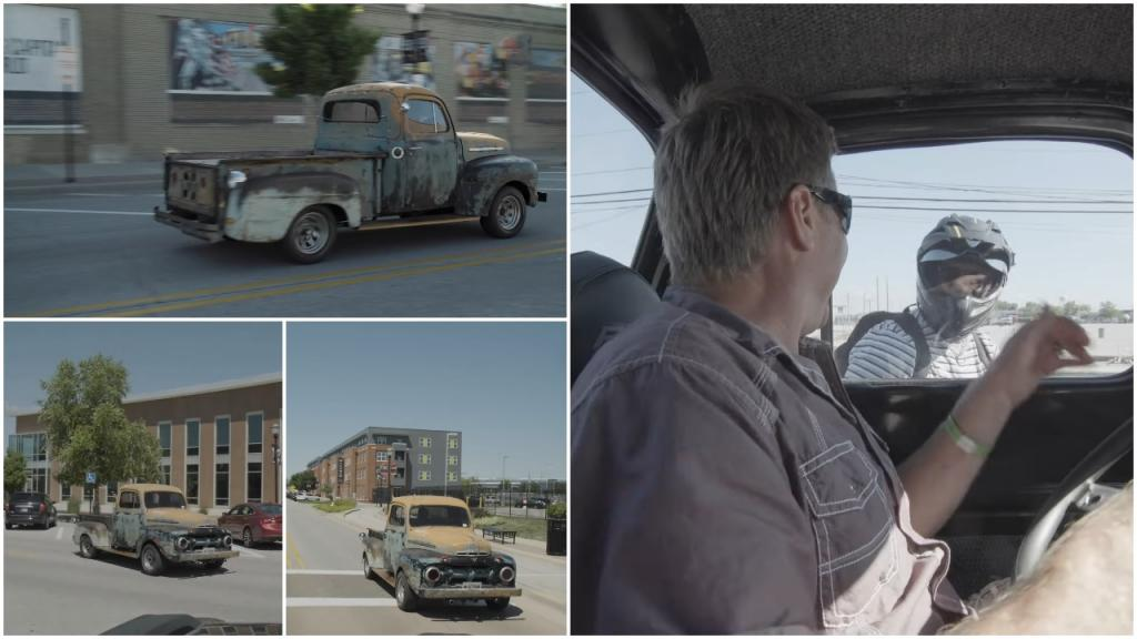 Хозяин «Форда» 52-го года перевернул автомобиль на раме и катается по городу, пугая попутные машины