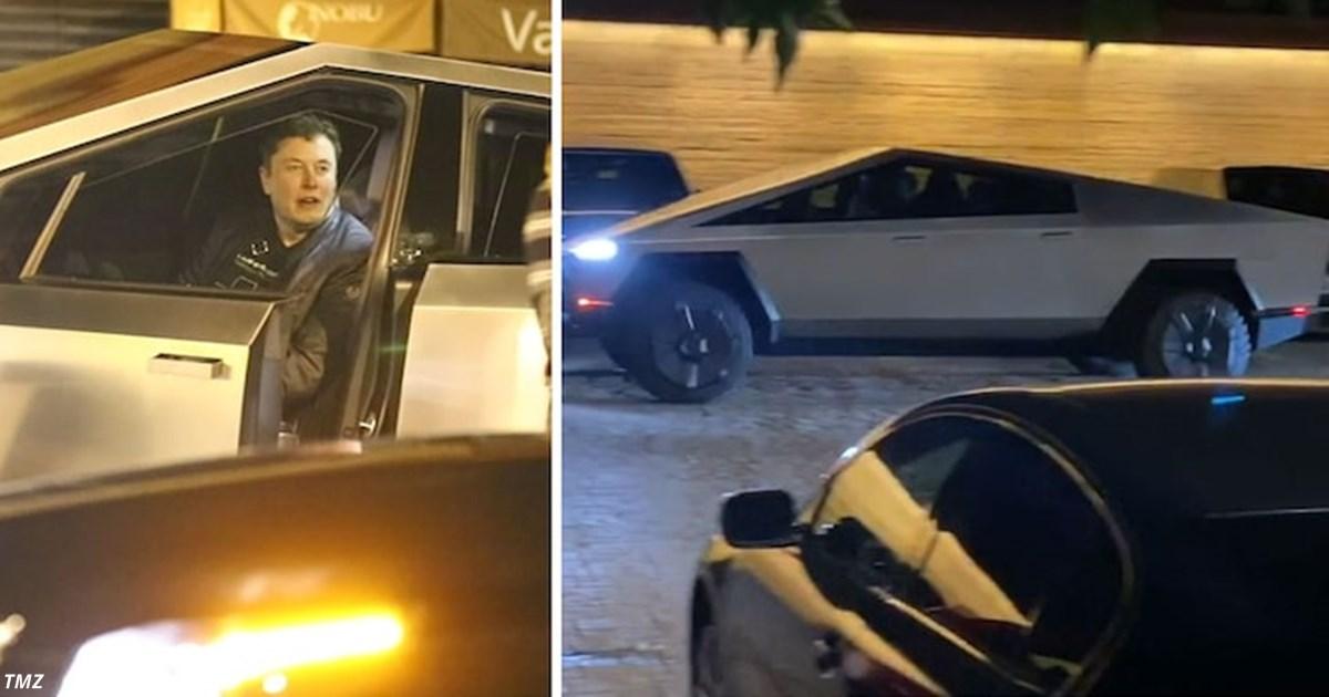 Tesla Cybertruck на улицах Лос Анджелеса: Илон Маск поехал на нём в ресторан