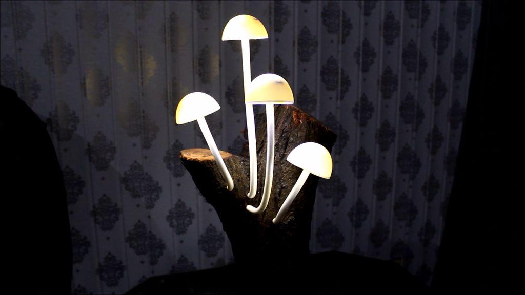 Таинственные грибочки: делаем красивый мистический светильник своими руками
