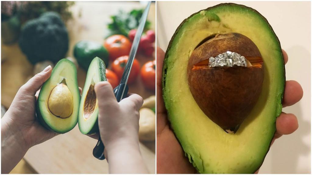 Мужчина использовал авокадо, чтобы сделать предложение своей девушке: пользователи «Фейсбука» среагировали очень быстро