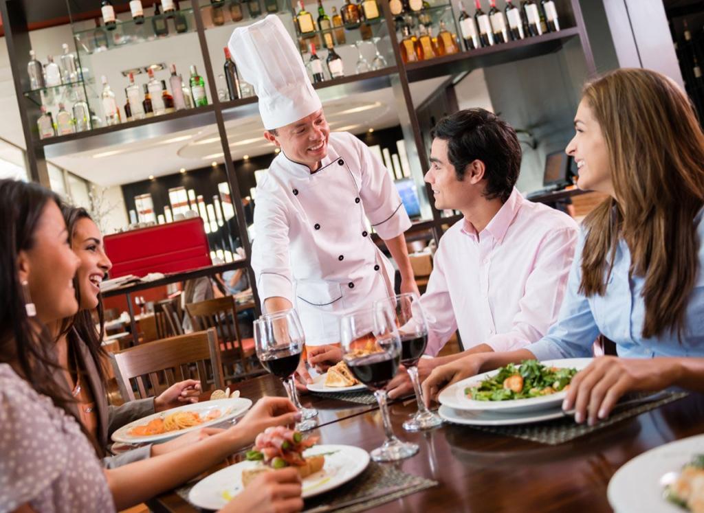 фото сервис в ресторане выполнен