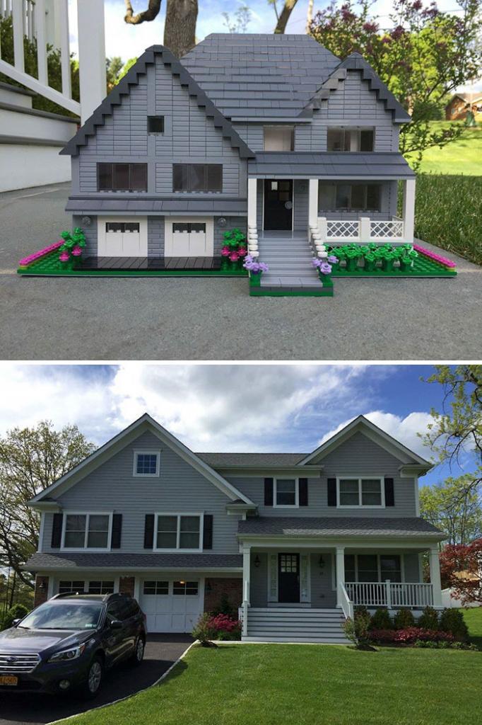 LEGO не только для детей: дизайнер Шери Остриан делает удивительные макеты реальных домов