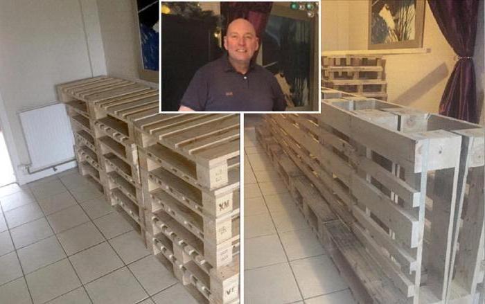 Шотландец притащил с работы деревянные поддоны. Ему потребовалось 10 часов, чтобы превратить их в мебель для праздника